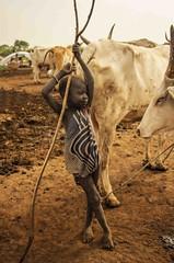 Mundari Cattle Boy.  (in Explore)