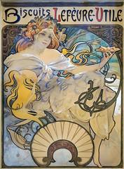 Oeuvre d'Alfons Mucha pour un calendrier LU (Musée d'histoire de Nantes)