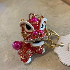 Pink Dragon Keychain