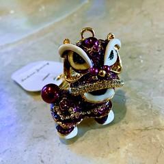 Purple Dragon Keychain
