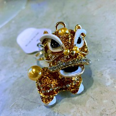 Gold Dragon Keychain