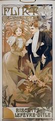 Panneau d'Alfons Mucha pour la gaufrette Flirt de LU (Musée d'histoire de Nantes)