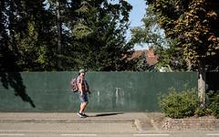 A man walks alone