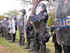 Anti-Nazi protest, April 19, 2008