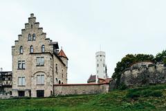 Backyard of Lichtenstein Castle in Germany