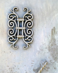Iron wall ornament, Bayacas, Province of Granada, Andalucía, Spain