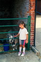 Hannah and goat