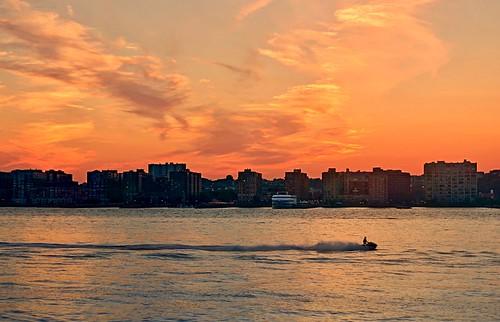 Riding solo (sunset) - Hudson River, New York City