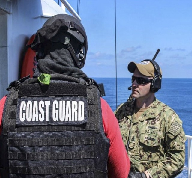 Photo:Cutter Active patrol By Coast Guard News