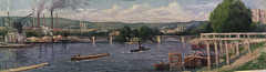 Maximlien Luce, Péniches sur la Seine, Musée de Mantes la jolie
