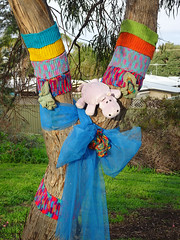 Toy Hippo in Decorated Tree