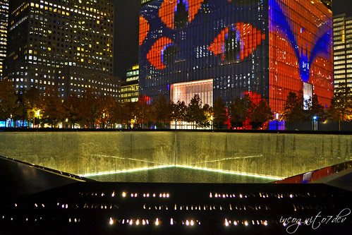 Halloween at WTC One World Trade Center Freedom Tower + 9/11 Memorial North Pool Manhattan New York City NY P00658 DSC_3433