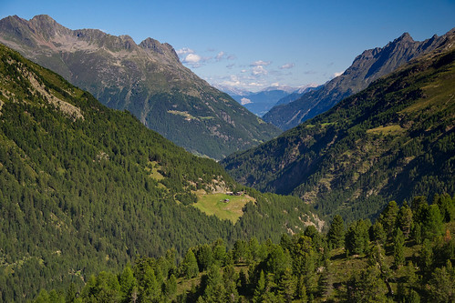Looking down the Ötztal valley