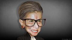 Ruth Bader Ginsburg - Caricature