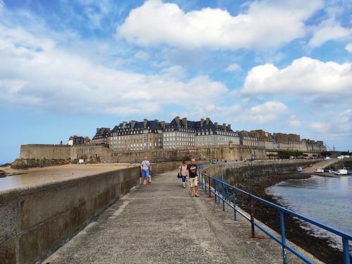 Saint-Malo vue de la digue