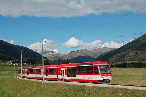 Zug der MGB in Gluringen