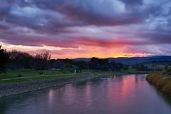 Early morning sunrise over Manawatu River