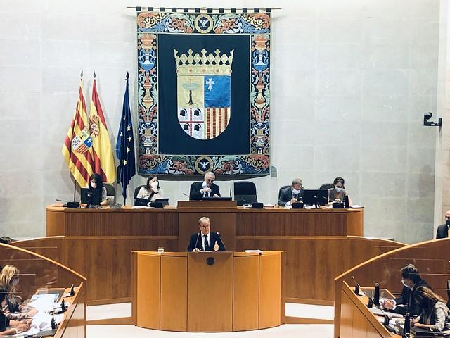 Presentación Informa Anual de 2019 en las Cortes de Aragón