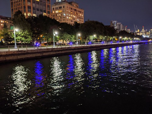 Purple & White Lights on Water