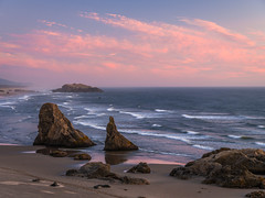 Bandon Beach Sunset Central Oregon Coast Sunny Day Fuji GFX100 Fine Art Landscape Nature Photography! Ocean Art Seascape! Elliot McGucken 45EPIC Master Medium Format Photographer Fuji GFX 100 & Fujinon Fujifilm GF Lens!