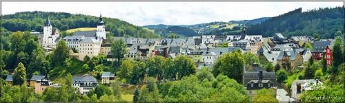 Blick vom Totenstein auf Schwarzenberg/Erzgebirge