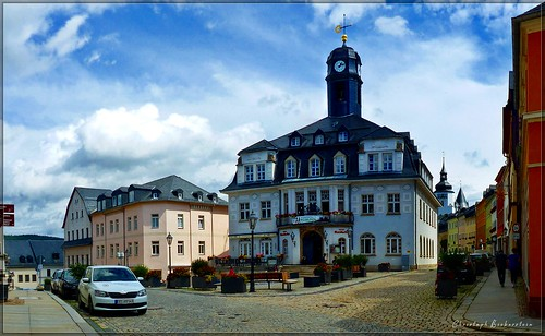 Marktplatz zu Schwarzenberg/Erzgebirge