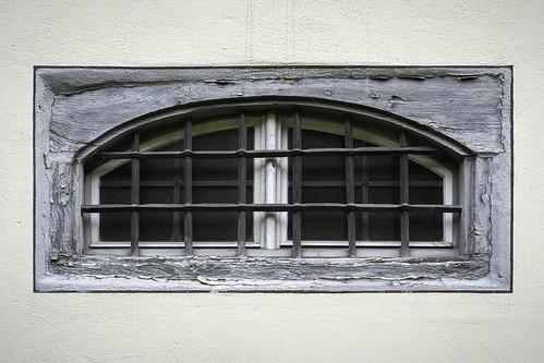 Window, Fischingen Kloster, Fischingen, Canton of Thurgau, Switzerland