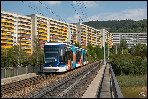 16-08-20 Jenaer Nahverkehr Solaris Tramino 701, Jena - Lobeda
