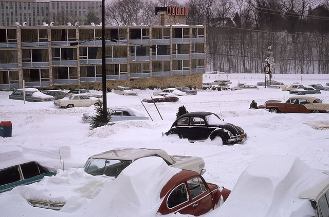 Photo:Spring Hill Motor Lodge - 5666 Columbia Pike - Blizzard of January 1966 - Fairfax County Public Library - Virginia Room By varchivesmonth