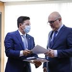 Reunião com o ministro da educação, Milton Ribeiro, com o presidente do FNDE, Marcelo Lopes da Ponte, e o secretário de Educação Profissional e Tecnológica do MEC, Ariosto Antunes Culau - Setembro/2020