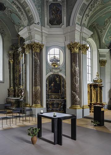 Church, Fischingen Kloster, Fischingen, Canton of Thurgau, Switzerland