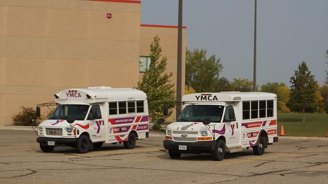 Photo:2006 Chevrolet & 2002 GMC Savanna Shuttle Bus By Crown Star Images