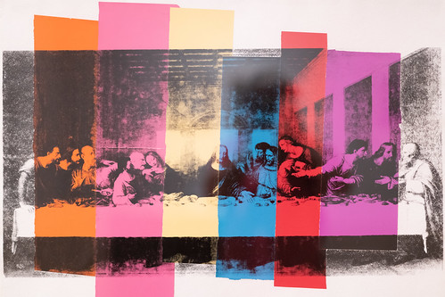 Warhol: What pastel color strips do to The Last Supper