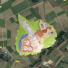 3 Vesly carte Satellite - Photo of Saint-Denis-le-Ferment