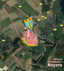 Noyers 27720  Carte Satellite