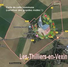 Les-Thilliers-en-Vexin 27420 carte Satellite