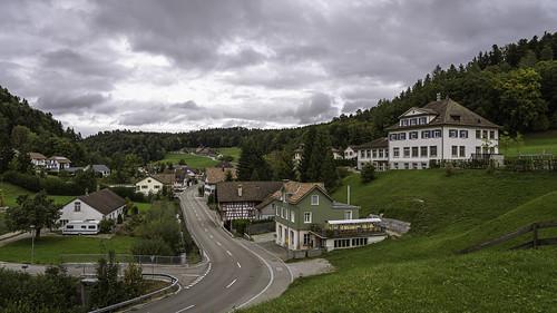 Fischingen from Fischingen Kloster, Fischingen, Canton of Thurgau, Switzerland