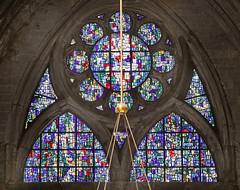 Tympan nord de Roger Bissière (cathédrale de Metz)