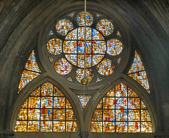Tympan sud de Roger Bissière (cathédrale de Metz)