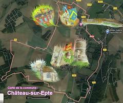 Château-sur-Epte 27420 Carte satellite