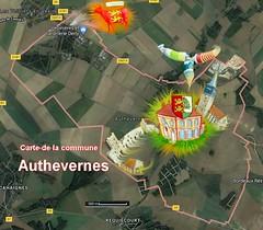 Authevernes 27420 carte satellite