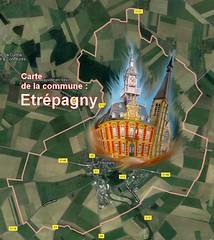 ÉTRÉPAGNY 27150 CDC VEXIN-NORMAND : carte - Photo of Saint-Denis-le-Ferment