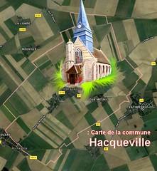 HACQUEVILLE 27150 VEXIN-NORMAND : carte