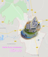 2 Gisors 0 carte - Photo of Le Vaumain