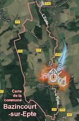 Bazincourt-sur-Epte  27140 Carte