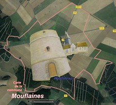 Mouflaines 27420 Carte Satellite