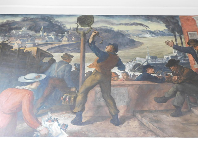 Photo:Aurora Indiana Post Office Mural By jimmywayne