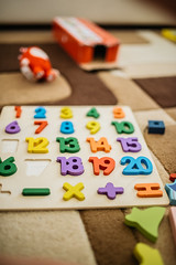 Board with numbers made for young kids.