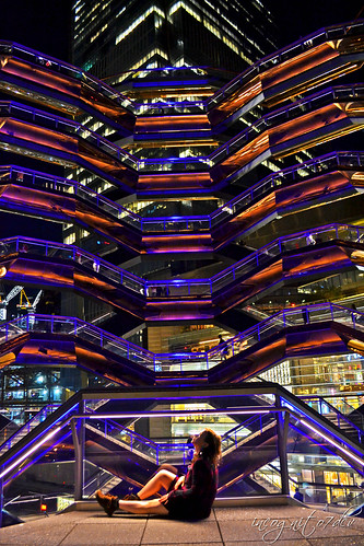 Magic Night in the Alien Spaceship - The Vessel Hudson Yards Manhattan New York City NY P00661 DSC_2625