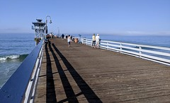 Walking on the San Clemente Pier